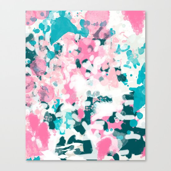 Everitt - abstract minimal painting home decor modern bright artistic decor canvas Canvas Print