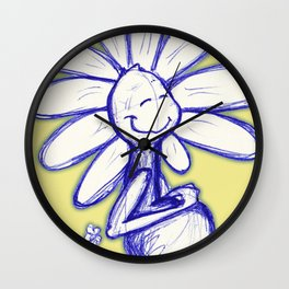 """Warm Food Means Someone Loves You"" Flowerkid Wall Clock"