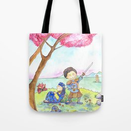 Two samurais on the hill Tote Bag