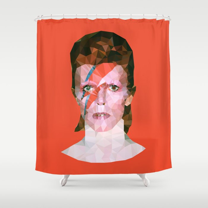 Chamaleon Bowie Shower Curtain