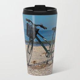 Bike on Barefoot Beach II Travel Mug