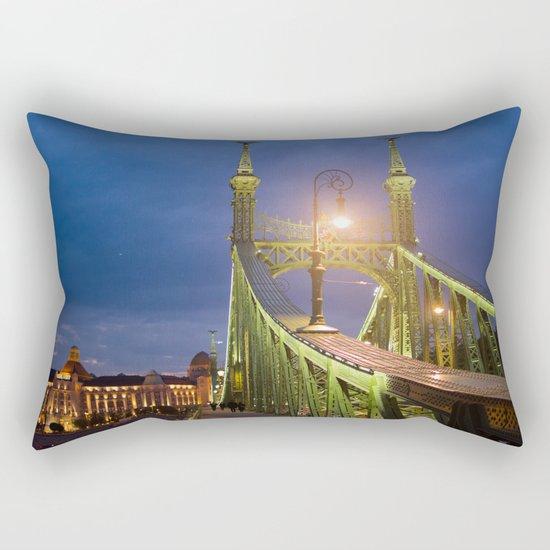 Budapest Bridge Rectangular Pillow