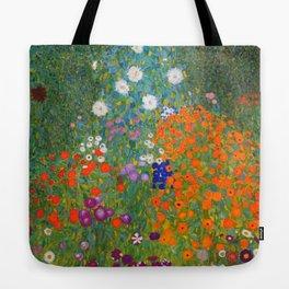 Flower Garden Bauerngarten Klimt Garden Floral Oil Painting Tote Bag