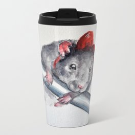 Rat in a bow Metal Travel Mug