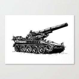M110 Self-propelled Gun Canvas Print