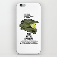 full metal alchemist iPhone & iPod Skins featuring Full Metal Spartan by adho1982