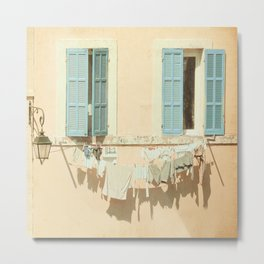 Daily life in La Provence (France) Metal Print