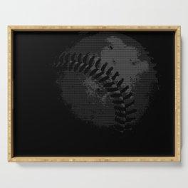 Baseball Illusion Serving Tray