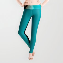 Creeping Teal with a Gold Edge Leggings