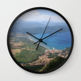 Akyaka and The Bay Of Gokova Photograph Wall Clock