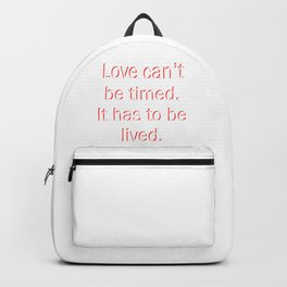 Money Heist Quote - White Backpack