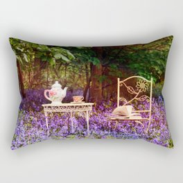 Afternoon Tea in the Bluebells. Rectangular Pillow
