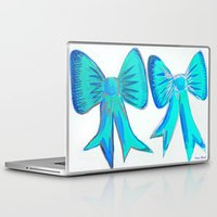 bows Laptop & iPad Skins featuring Bows by Samaa Ahmed
