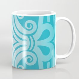 HUNGARIAN ORNAMENTS - Femininity mandala in turquoise Coffee Mug