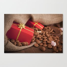 III - Bag with treats, for traditional Dutch holiday 'Sinterklaas' Canvas Print