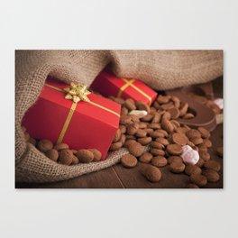 III - Bag with treats, for traditional Dutch holiday 'Sinterklaas' Canvas Print