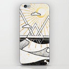 Triangle Dunes Inktober :: Destiny Laced Beneath The Deserts iPhone Skin