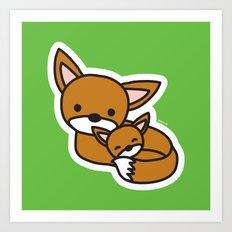 Sweet Fox Art Print