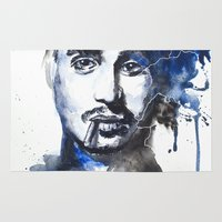 johnny depp Area & Throw Rugs featuring Johnny by JessicaBader