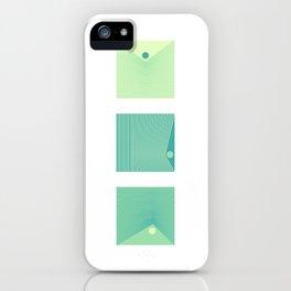 Triptique Minimaliste iPhone Case