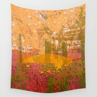 bamboo Wall Tapestries featuring Bamboo  by dominiquelandau
