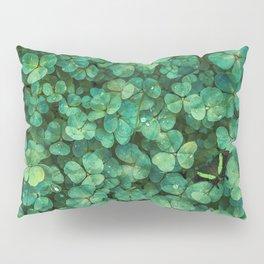 Lucky Green Clovers, St Patricks Day pattern Pillow Sham