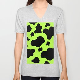 Cow Print Pattern / GFTCowPrint004 Unisex V-Neck