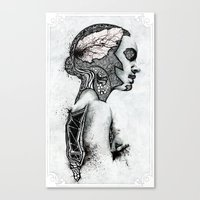 black swan Canvas Prints featuring Swan by JsR_OtR