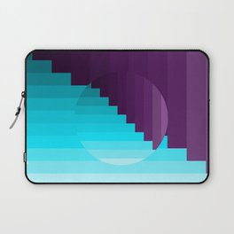 Ups and Down | Deep Within | Purple | Blue | Turquoise Laptop Sleeve