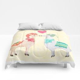 Llamas In Love Comforters