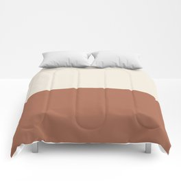 Earthy Horizon Inspired by Sherwin Williams Cavern Clay Sw 7701 and Creamy SW 7012 Comforters