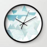 spaceship Wall Clocks featuring Spaceship  by BRITADESIGNS
