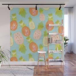 Pineapple Toss Wall Mural