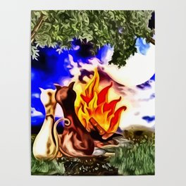 Romanze am Lagerfeuer Poster
