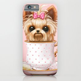 Yorkie In A Teacup iPhone Case