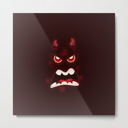 Devil Face (Halloween) Metal Print