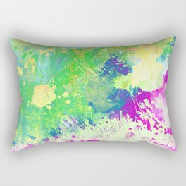 Love Colour (Abstract, colourful painting) Rectangular Pillow