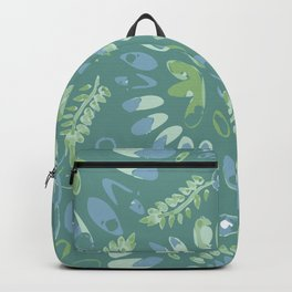 Pop abstract watercolor - geometric composition  Backpack