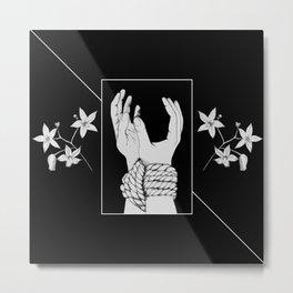 Tied & Nightshade Metal Print