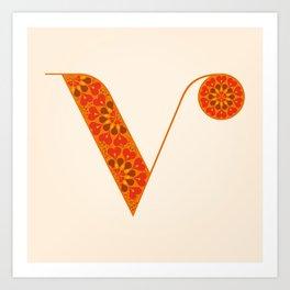 V - Amarilis Art Print