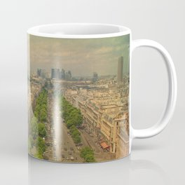 Avenue De Champs Elysees in Paris Coffee Mug