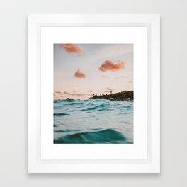 summer sunset iv Framed Art Print