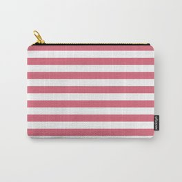 Large Nantucket Red Horizontal Sailor StripesLarge Nantucket Red Horizontal Sailor Stripes Carry-All Pouch