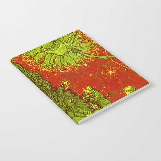 Sunflower green & Red Sky Notebook