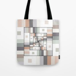 Colorful Geometric Layers Tote Bag