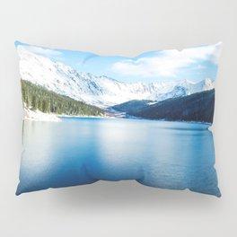 Clinton Gulch // Day Light Mountain Lake Forest Snow Peak Landscape Photography Hiking Decor Pillow Sham