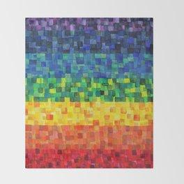 Chakra Rainbow Tiles Throw Blanket