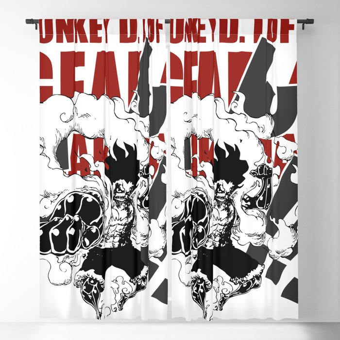 Gear 4 Snakeman Monkey D Luffy Blackout Curtain By Claystage