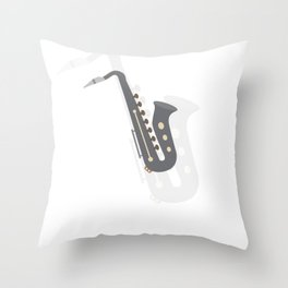 Saxophone Musical Instrument Throw Pillow