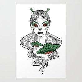 Alien girl. Art Print